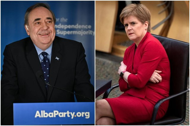 Scottish election: Alex Salmond's Alba Party could deny Nicola Sturgeon's SNP a majority, new poll shows  (Photos: Jeff J Mitchell/Getty Images & Andy Buchanan- Pool/Getty Images)