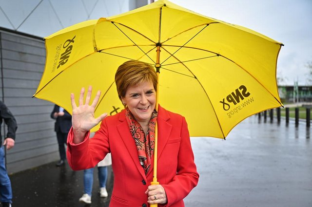 First Minister Nicola Sturgeon has described the SNP's victory as a mandate for a second independence referendum (Picture: Getty Images)