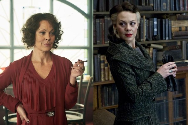 Helen McCrory as Polly in Peaky Blinders and Narcissa Malfoy in Harry Potter and the Half-Blood Prince (ITV/Warner Bros)