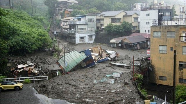 The landslide has buried many homes, as 20 people are declared missing (Picture: Reuters)