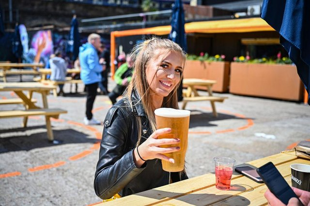 Pub beer gardens will be allowed to reopen in England from 12 April