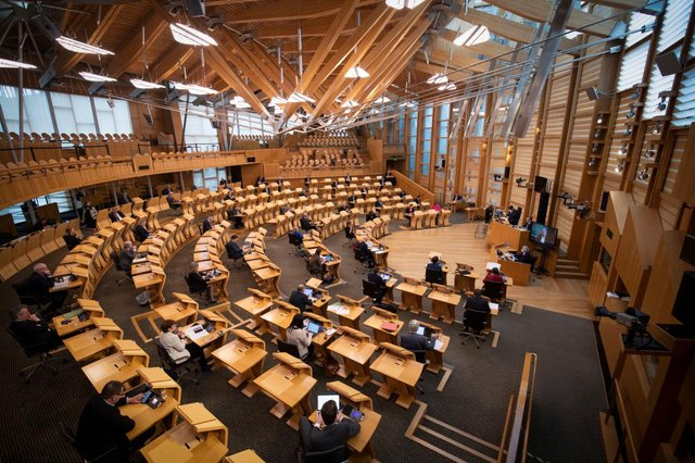 The chamber of the Scottish Parliament in Edinburgh (Getty Images)