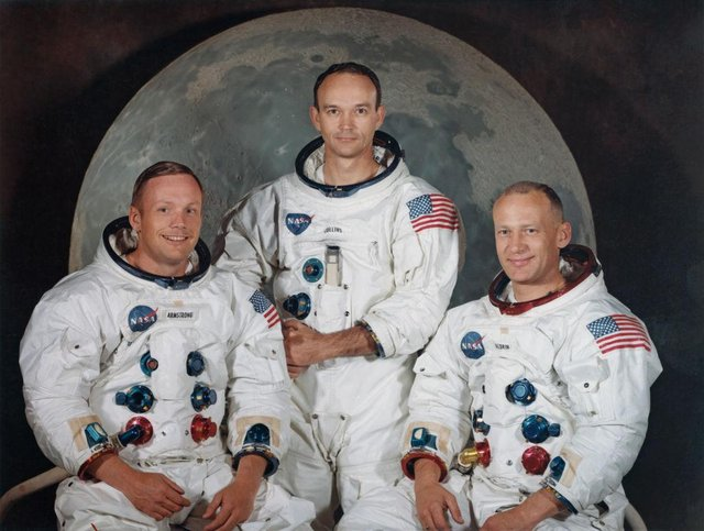 The three members of the Apollo 11 mission: Commander Neil Armstrong, Command Module Pilot Michael Collins and Lunar Module Pilot Edwin 'Buzz' Aldrin Jr. (Getty Images)