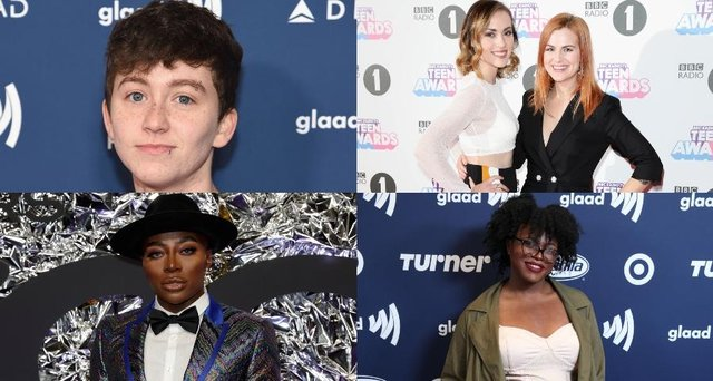 These are some of the LGBTQ+ voices who have made a name for themselves on YouTube (Photo: Kelly Sullivan/Tim P Whitby/John Phillips/Jaime McCarthy/Getty Images)