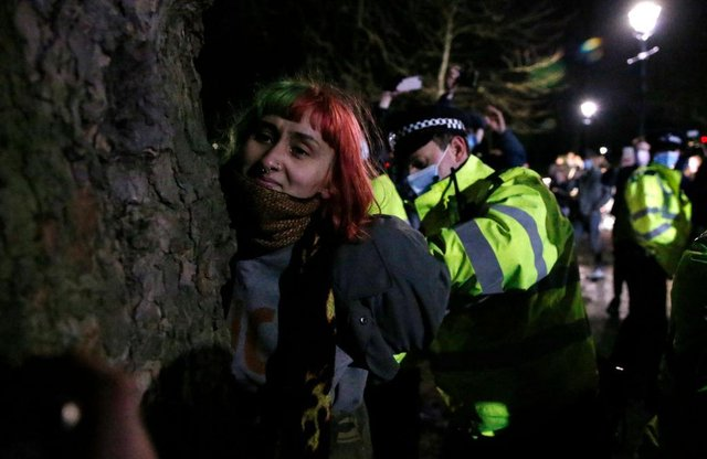 Police watchdog says officers acted appropriately at Sarah Everard vigil (Photo by Hollie Adams/Getty Images)