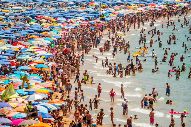 Spain (pictured), Greece and France are expected to be kept off the governments 'green list' when the second batch of destinations is revealed (David Ramos/Getty Images)
