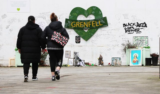 The Grenfell Memorial Wall is located in the grounds of Kensington Aldridge Academy (PA)