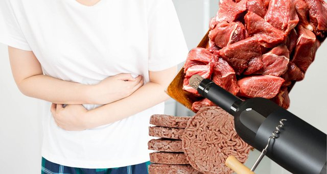 Certain food and drinks can increase the risk of bowel cancer (Graphic: Kim Mogg)