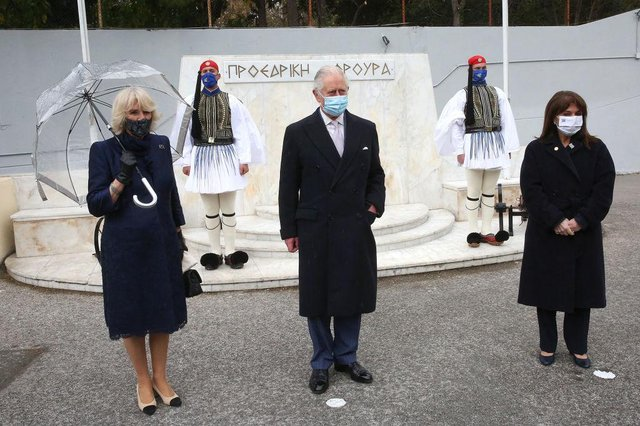 Prince Charles and the Duchess of Cornwall arrived in Athens on Thursday (Getty Images)