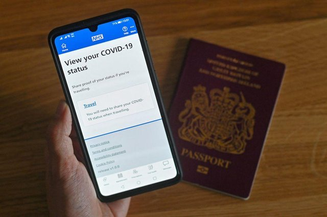 MPs have said that Covid passports would 'disproportionately discriminate' based on race, religion, age and socio-economic background (Photo: JUSTIN TALLIS/AFP via Getty Images)