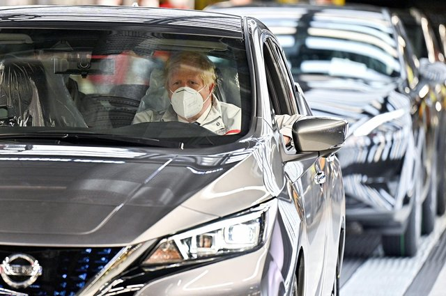 Prime Minister Boris Johnson said 19 July is still on the table during a visit to a Nissan plant in Sunderland following the announcement by the car company that it is to create thousands of jobs making batteries for electric vehicles at a new 'gigafactory' (PA)