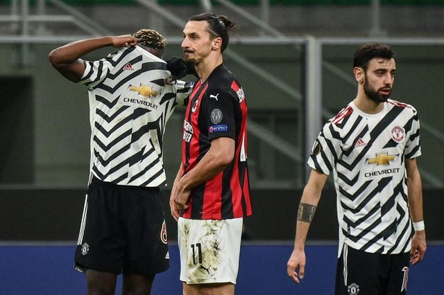 Manchester United and AC Milan, seen here meeting in the Europa League, are founding members of the proposed European Super League despite their struggles in Europe in recent seasons.