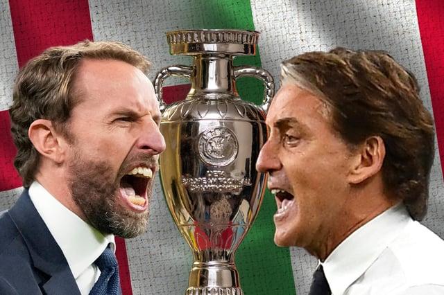 England vs Italy 2021. (Graphic: Mark Hall / JPIMedia)