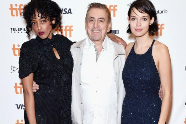 Charlie Hanson with Diana Chire and Aggy K. Adams at the 2018 Toronto International Film Festival (Photo: Presley Ann/Getty Images)