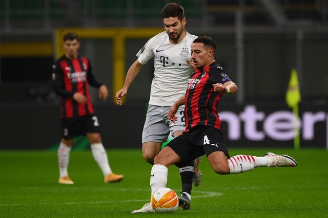 AC Milan's Algerian midfielder Ismael Bennacer (Photo by MARCO BERTORELLO/AFP via Getty Images)