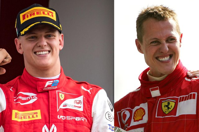 Rookie driver Mick Schumacher is the same age now as his dad, Michael, was when he made his F1 debut with team Jordan at the Belgian Grand Prix 30 years ago. (Pic: Getty Images)
