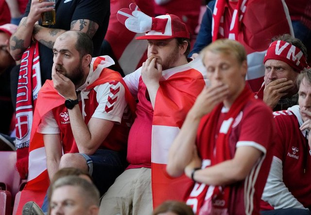 Some fans were visibly distressed by the scenes (Getty Images)