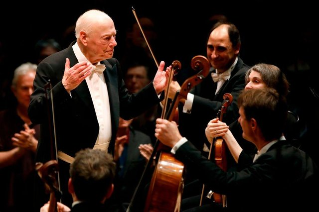 Dutch conductor Bernard Haitink, who retired in 2019 aged 90, and who was presented the 2021 Lifetime Achievement award (Photo: TOLGA AKMEN/AFP via Getty Images)
