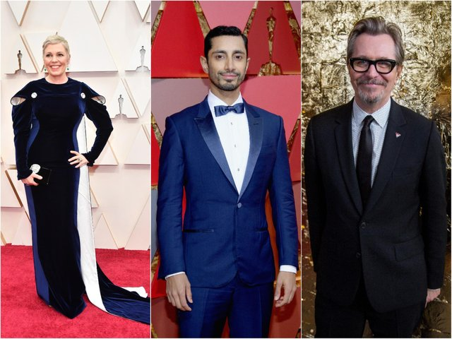Olivia Coleman, Riz Ahmed and Gary Oldman are all tipped for Oscar success (Getty).
