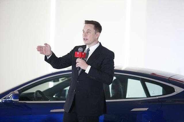 Elon Musk, founder of Tesla cars.