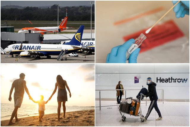 Covid tests for British holidaymakers could cost less than £50 under new plans considered by the Treasury (Getty Images and Shutterstock)