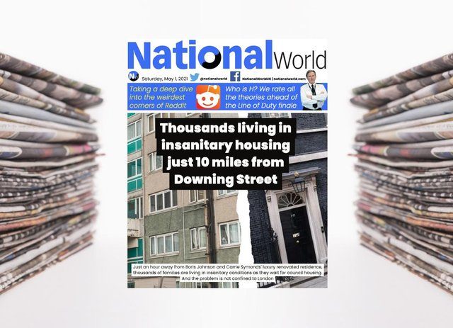The digital front page of NationalWorld for 1 May