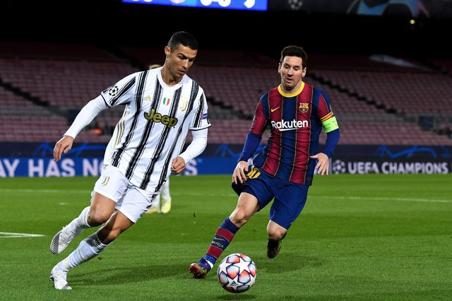 Two of world football's biggest stars - Cristiano Ronaldo and Lionel Messi - could be set to feature in a new European Super League competition proposed by 12 founding clubs from across the continent. (Pic: Getty Images)