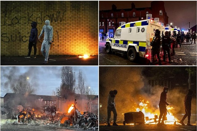Violence broke out on the streets of Northern Ireland last night