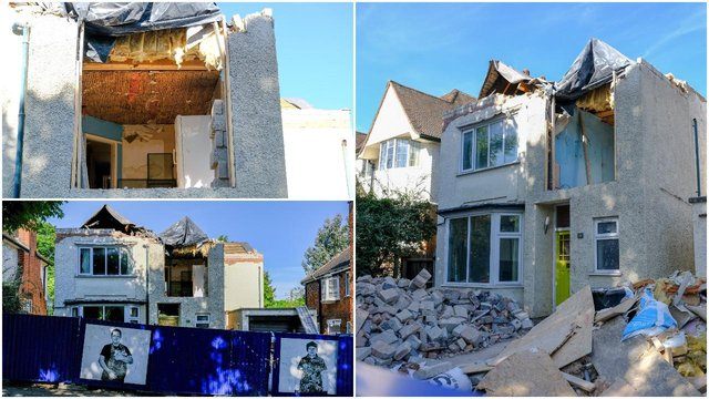 Destroyed number 26 Guilford Road is currently valued at more than half a million pounds (SWNS)