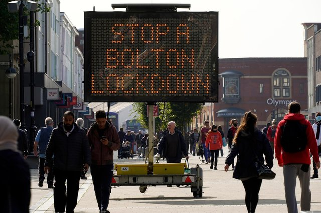 Covid cases in Bolton are on the rise, but it is thought the town will resist a local lockdown (Getty Images)