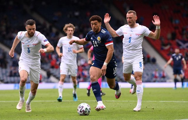 Che Adams of Scotland. (Photo by Stu Forster/Getty Images)