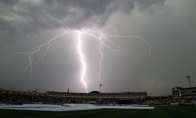 Lightning strikes during an electrical storm Birmingham (Photo by Tom Shaw/Getty Images)