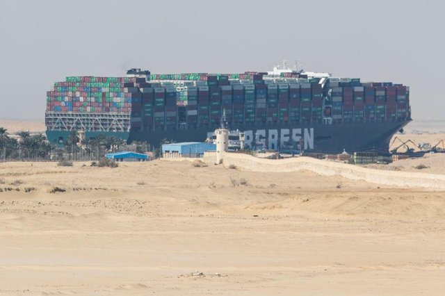 """The container ship Ever Given has been """"freed"""" according to reports (Getty Images)"""