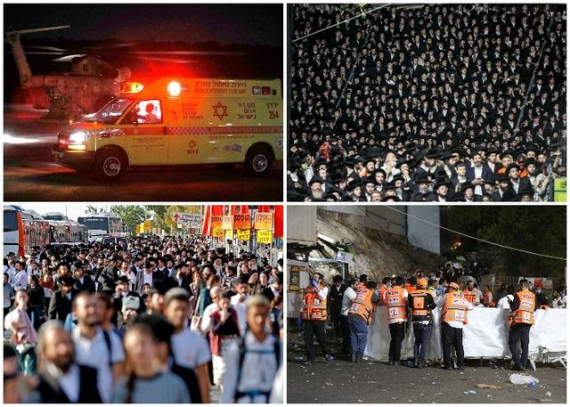 More than 40 people have been killed in a stampede at a Jewish religious gathering in northern Israel (Getty Images)