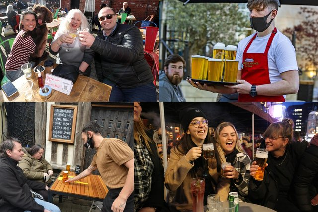 Patrons flocked to their local pubs to enjoy a pint as restrictions eased in England (Photo: PA/contributed)