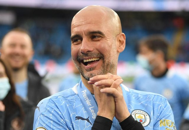 Pep Guardiola, Manager of Manchester City. (Photo by Michael Regan/Getty Images)