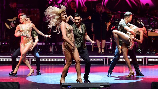 Giovanni Pernice dances with Nadiya Bychkova (centre) as part of the Strictly Come Dancing Professionals UK Tour 2019 (Photo: PA Features Archive/Press Association Images)