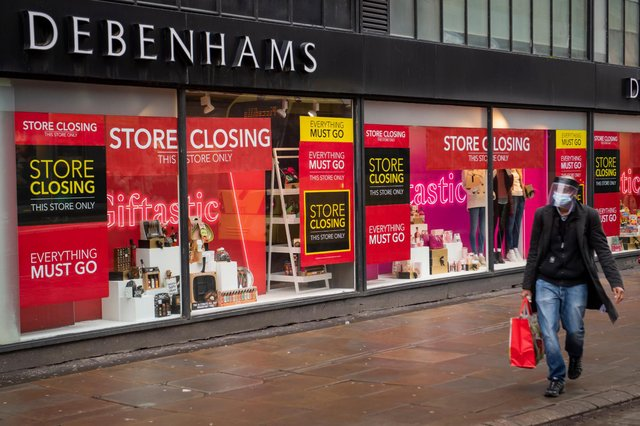 Debenhams will reopen 97 of its stores across England and Wales in a final closing down sale (Getty Images)