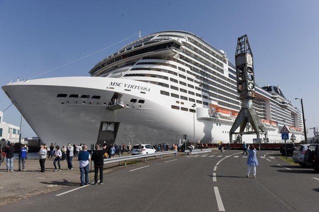 The MSC Virtuosa has been banned from entering Scotland on a seven day trip round the UK (AFP via Getty Images)