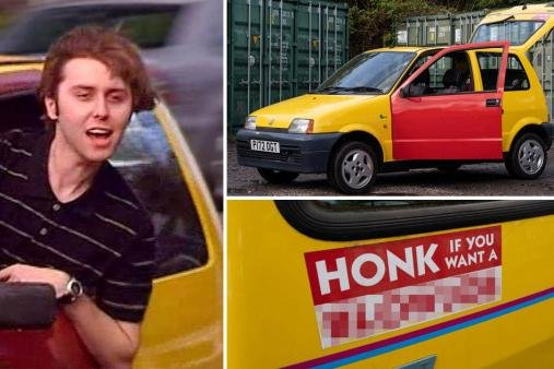 The inconic car featured in The Inbetweeners from season one (Picture: SWNS)