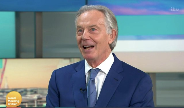 Tony Blair said that the party needed to prove that it had abandoned the 'left agenda' (ITV)