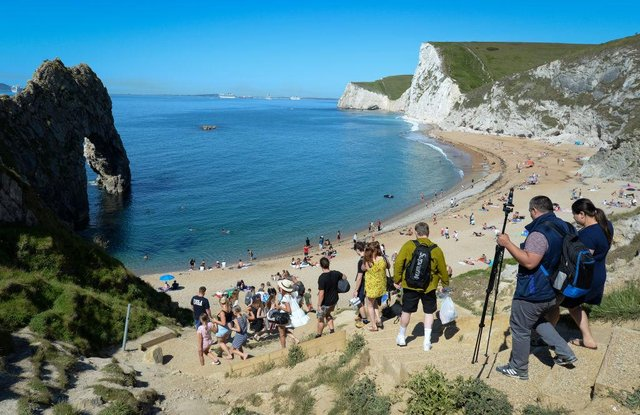 Woman pronounced dead at the scene after falling from cliff above popular beach in Dorset (Photo by Finnbarr Webster/Getty Images)