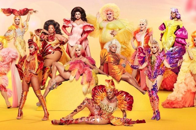 The line-up of 13 competitors is Drag Race All Stars' largest yet (Photo: Paramount Plus)