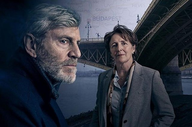 Tchéky Karyo stars alongside Fiona Shaw in the second series, filmed in Budapest (Picture: BBC)
