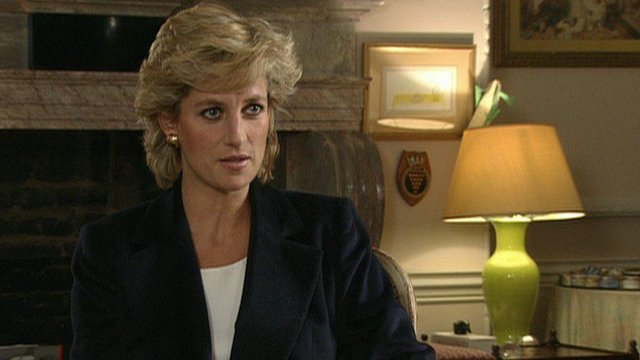 Diana was interviewed by Bashir for BBC's Panorama, in 1995 (Picture: BBC)
