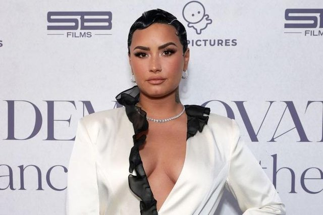 Lovato spoke candidly about their sexual orientation on the Joe Rogan podcast (Photo: Rich Fury/Getty Images for OBB Media)