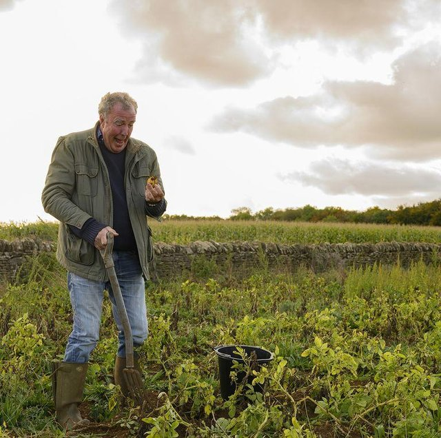 The TV presenter had to learn everything about farming as he took on the running of a 1,000 acre farm (Picture: Clarkson's Farm)