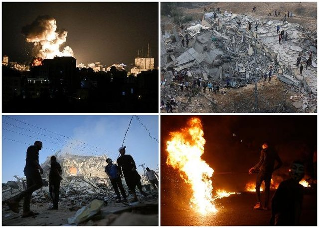 Israel has pressed ahead with its military offensive in the Gaza Strip with numerous airstrikes (Getty Images)