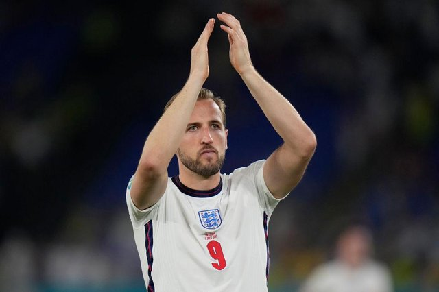 Harry Kane applauded fans as he was swapped during England's quarter final match against Ukraine, he had already scored two goals  (Picture: Getty Images)