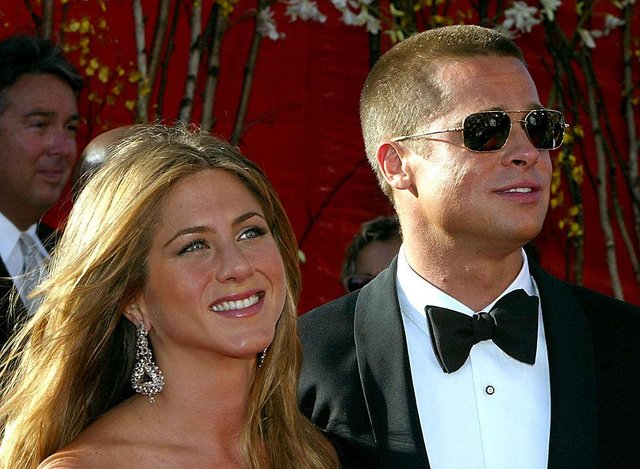Aniston and Pitt were married for five years, during which time he appeared as a guest on 'Friends' (Picture: Getty Images)